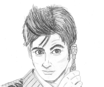 Chrisily 31 16 10th Doctor Sketch By