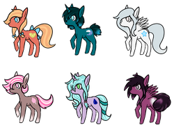 !!PONY ADOPTABLES -CLOSED- by LotteAdopts
