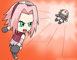 Naruto+Chibis:She hates filler by The-PirateQueen