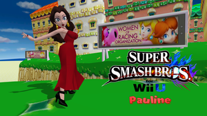 Super Smash Bros 4 - Pauline by FatalitySonic2