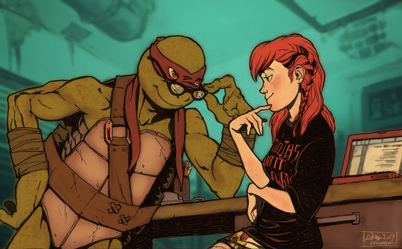 TMNT fanfic illustration - You mean irresistible by suthnmeh