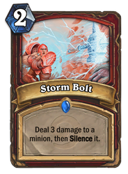 Hearthstone card concept - Storm Bolt by SnowingGnat
