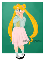 usagi has the cutest outfits by drawnbykenna