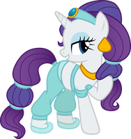 Rarity as Jasmine by CloudyGlow