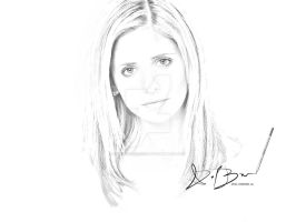 Sarah Michelle Gellar Sketch by DieselBarracuda