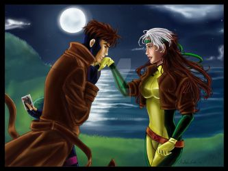 Comm - Gambit and Rogue 2.1 by TerraForever