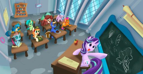 Classroom by SonicPegasus