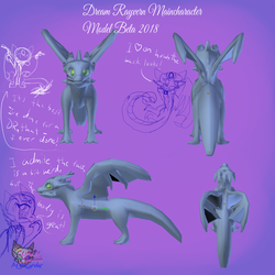 DreamRayvernMainCharacterModelPAStageGAME by AngelCnderDream14