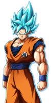 Dragon Ball Fighterz Goku SSGSS by PlayerOtaku