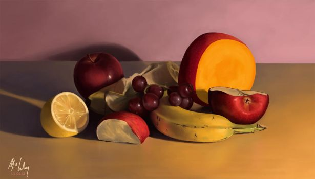Fruit Still Life by Lowley