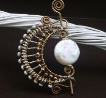 Harvest Moon Brooch by WiredElements