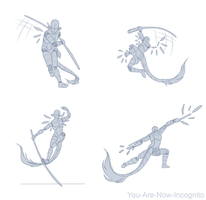 Staff action pose study by YouAreNowIncognito