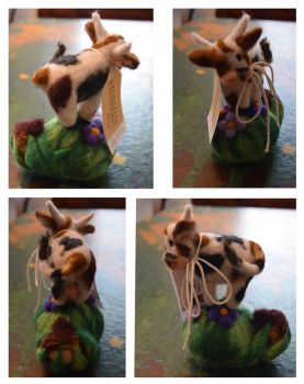 Felted cow by Frollino