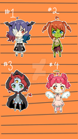 Halloween Adopt Set 1 [Open] (2/4) PRICE REDUCED by yuki-white