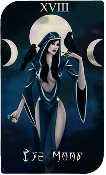 Daedra Tarot Cards - Nocturnal, The Moon by AredheelMahariel