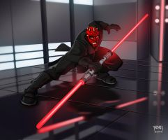 DARTH MAUL by YAZBACK by YAZBACK