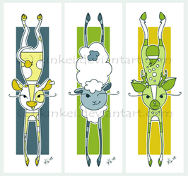 Stretchy animal Bookmarks2 by kinkei