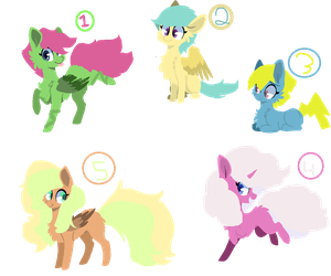 Group of adopts by redpandagirl15281