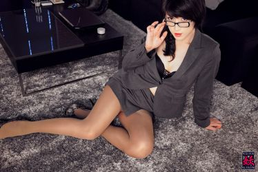 Office 'Lady' with Nude Stockings by AsianAlison