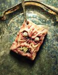 Miniature book of the dead pendant by dogzillalives