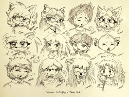 Headshot Sketched Request Batch02 by Codename-Turtlefairy