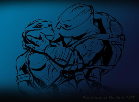 TMNT LEO AND VENUS by propimol