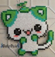 Melon Kitty by PerlerPixie