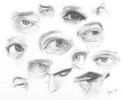 Eye Sketches II by BikerScout