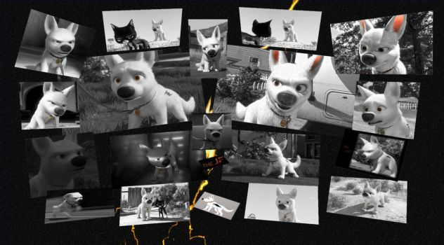Bolt B and W Collage by theJF7
