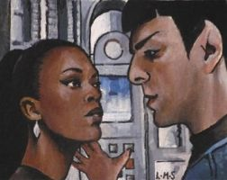 Spock and Uhura by sullen-skrewt