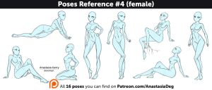 Poses Reference #4 (female) by Anastasia-berry