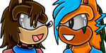 Jointed Icon Juru and Alex (without Hearts) by xCrypticDreams