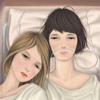 Anna and Mja in hospital by mondofragile