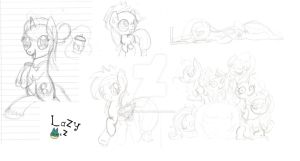 WIP. A lot of sketches. Can you guess them all? by Lazymunchlax