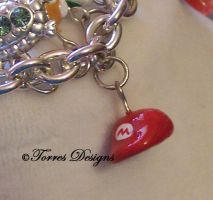 Mario Cap Hat Charm Handmade by TorresDesigns