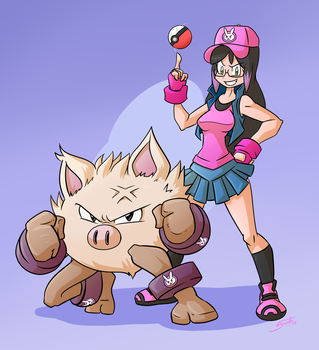 Commission - Pokemon Trainer Danis by FBende