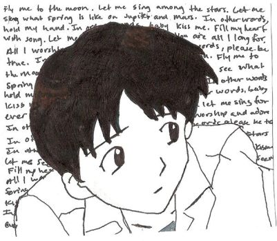 Shinji--Fly me to the moon by JdChbosky