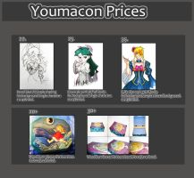 Youmacon price sheet by EmmersDrawberry