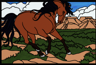 Bay Horse by Writer-Colorer