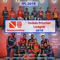 (IPL) Indian Premier League 2018, Watch Latest Upd by newsroompost