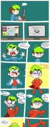 Jackaboiman saves the day :D by IvaTheHuman