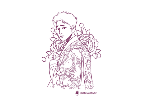 /LineArt/ Flower Prince by Jimmy-ilustra