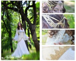 White and gold elven dress (sold out) by lady-narven