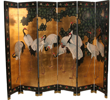 876 Golden Crane Screen by Tigers-stock