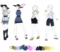 Design Sketches - Lineup 1 by jeevani