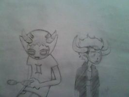 Sollux and Tavros drawing by megsamirafauth