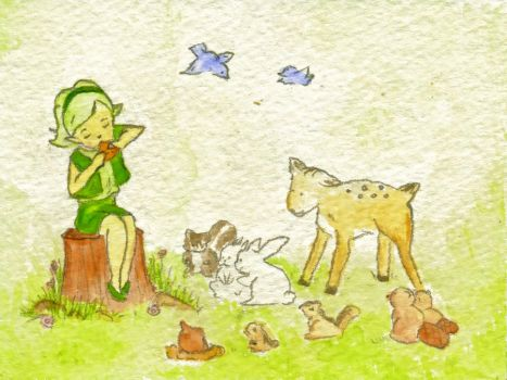 Saria's Song by StandingUpsideDown