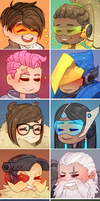 Overwatch Profile Icons (Set 2) by Forest-Ghosts