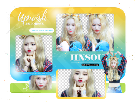 JinSoul PNG PACK #3/ LOONA by Upwishcolorssx