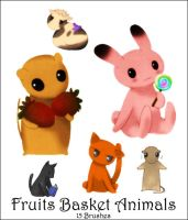 Fruits Basket Animals by PetRockX